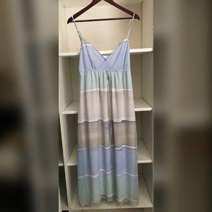 Lauren Conrad LC Blue Striped Maxi Dress Size 12